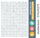 industry icon set clean vector | Shutterstock .eps vector #574145275