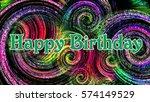 happy birthday greeting card... | Shutterstock . vector #574149529