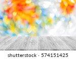 love abstract bokeh background... | Shutterstock . vector #574151425