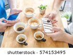 hang out in coffee shop | Shutterstock . vector #574153495