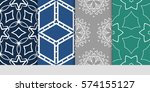 set of decorative floral...   Shutterstock .eps vector #574155127