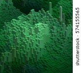 green cubes in an abstract... | Shutterstock .eps vector #574155565