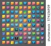 icon collection vector... | Shutterstock .eps vector #574156939