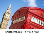 red telephone box and big ben ...