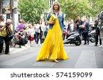 paris july 8  2015. dutch... | Shutterstock . vector #574159099
