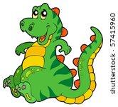 cute sitting dinosaur   vector...   Shutterstock .eps vector #57415960