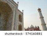 taj mahal architecture | Shutterstock . vector #574160881