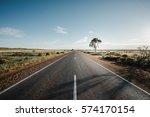 a road in flinders ranges in... | Shutterstock . vector #574170154