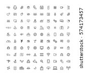 icon collection vector... | Shutterstock .eps vector #574173457
