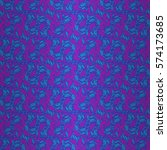 bright blue fancy seamless... | Shutterstock .eps vector #574173685