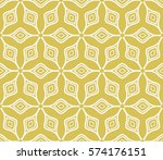 seamless floral geometric... | Shutterstock .eps vector #574176151