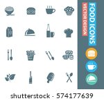 food icon set clean vector   Shutterstock .eps vector #574177639