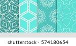 set of decorative floral...   Shutterstock .eps vector #574180654