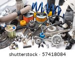 a lot of different auto spare... | Shutterstock . vector #57418084