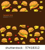 fast food | Shutterstock .eps vector #57418312