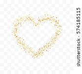 confetti cover from gold stars. ... | Shutterstock .eps vector #574185115