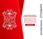 template design valentine... | Shutterstock .eps vector #574186045