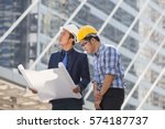 architect  engineer  project... | Shutterstock . vector #574187737