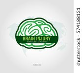 brain injury awareness month... | Shutterstock .eps vector #574188121
