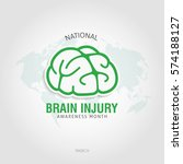 brain injury awareness month... | Shutterstock .eps vector #574188127