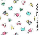 cute pins seamless pattern....