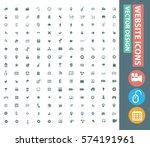 website icon set clean vector | Shutterstock .eps vector #574191961