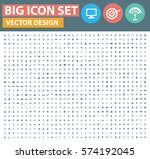 big icon set clean vector | Shutterstock .eps vector #574192045