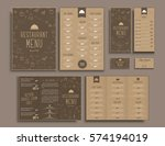 design a4 menu  folding... | Shutterstock .eps vector #574194019