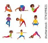cute cartoon gymnastics for...   Shutterstock .eps vector #574199821