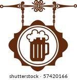 ancient street signboard of... | Shutterstock .eps vector #57420166