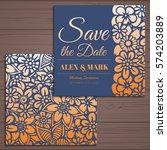 wedding invitation card suite... | Shutterstock .eps vector #574203889