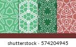 set of decorative floral... | Shutterstock .eps vector #574204945