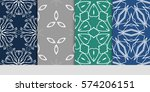 set of lace seamless pattern....   Shutterstock .eps vector #574206151