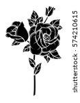 flower rose  black and white.... | Shutterstock .eps vector #574210615