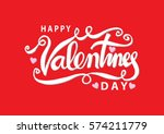 happy valentines day... | Shutterstock .eps vector #574211779
