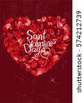 rose greeting card with phrase... | Shutterstock .eps vector #574212739