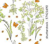 seamless wallpaper wild flowers | Shutterstock .eps vector #57421690