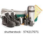Objects For Camping Isolated O...