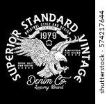 superior standard vintage.denim ...   Shutterstock .eps vector #574217644