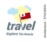 tonga travel country flag logo. ...   Shutterstock .eps vector #574218541