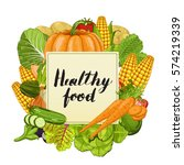 healthy food banner vector... | Shutterstock .eps vector #574219339