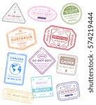international travel visa... | Shutterstock .eps vector #574219444