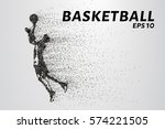 basketball of the particles. a