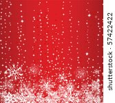 winter red background with...   Shutterstock .eps vector #57422422