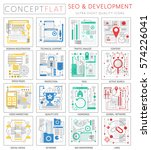 infographics mini concept seo... | Shutterstock .eps vector #574226041