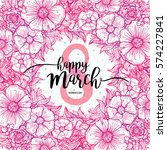 eight march women's day... | Shutterstock .eps vector #574227841