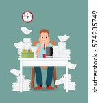 stress situation on work ... | Shutterstock .eps vector #574235749