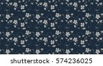 seamless pattern with flowers... | Shutterstock .eps vector #574236025