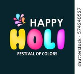 holi background design elements  | Shutterstock .eps vector #574240537