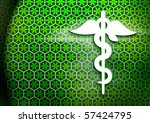 Pharmacy green textured background - stock photo